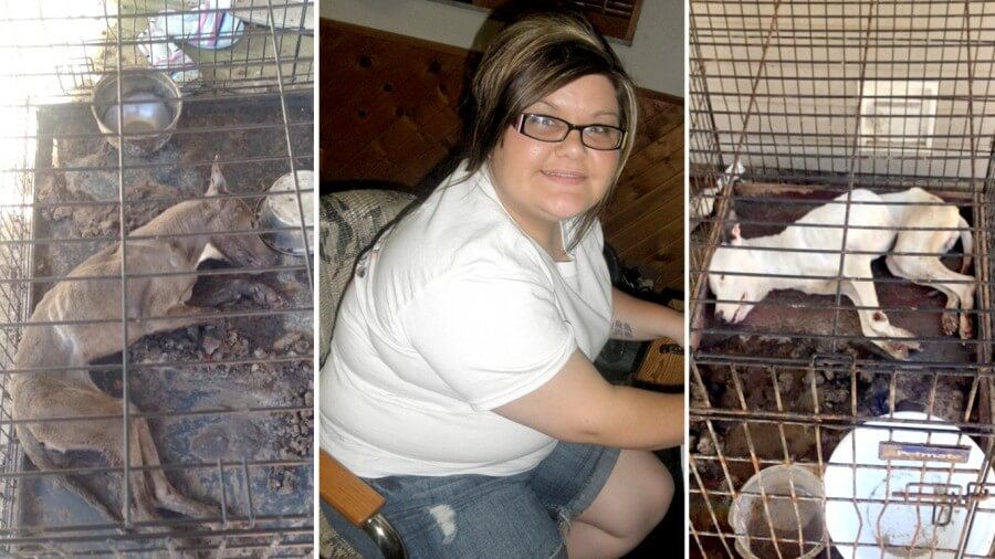 woman starves dogs