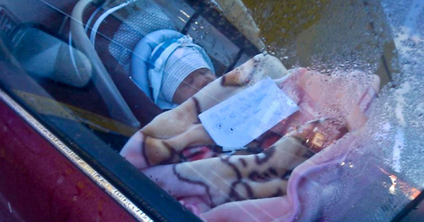 baby alone in the car