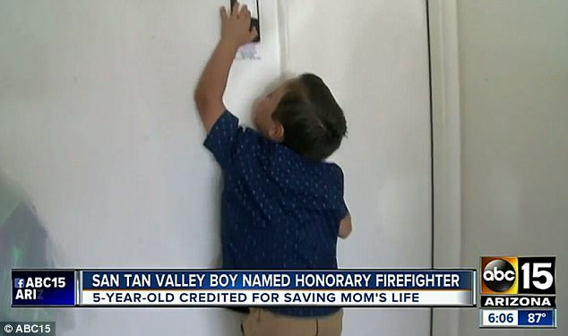 boy saves mother