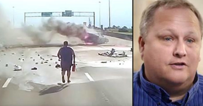 Image result for Trucker Spots Horrific Crash And Goes Running, But His Dash Cam Caught A Miracle