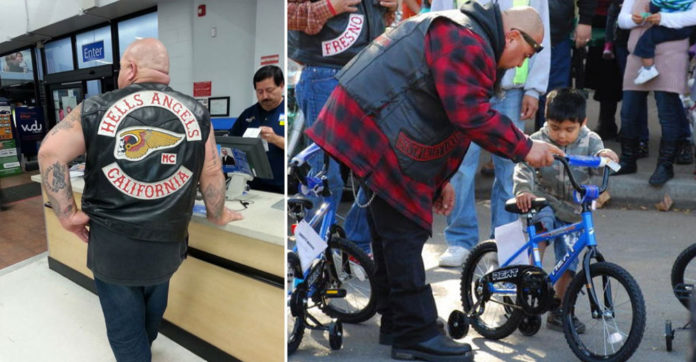 Hells Angels Toys For Tots : Tough bikers line up in walmart for days then they
