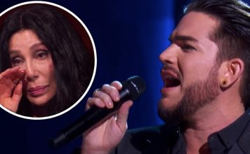 adam lambert brought cher to tears