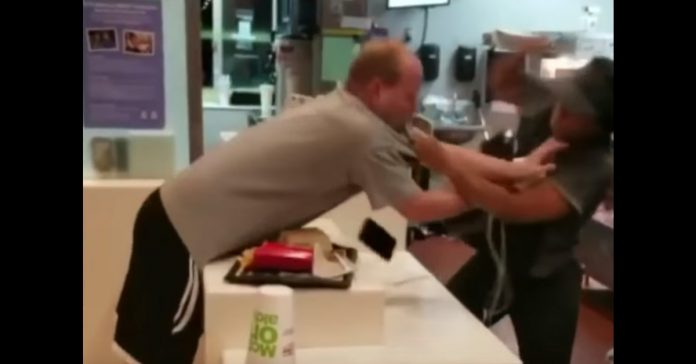 man attacks female mcdonald's staff over a straw