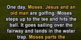 Moses Jesus And Old Man Plays Golf