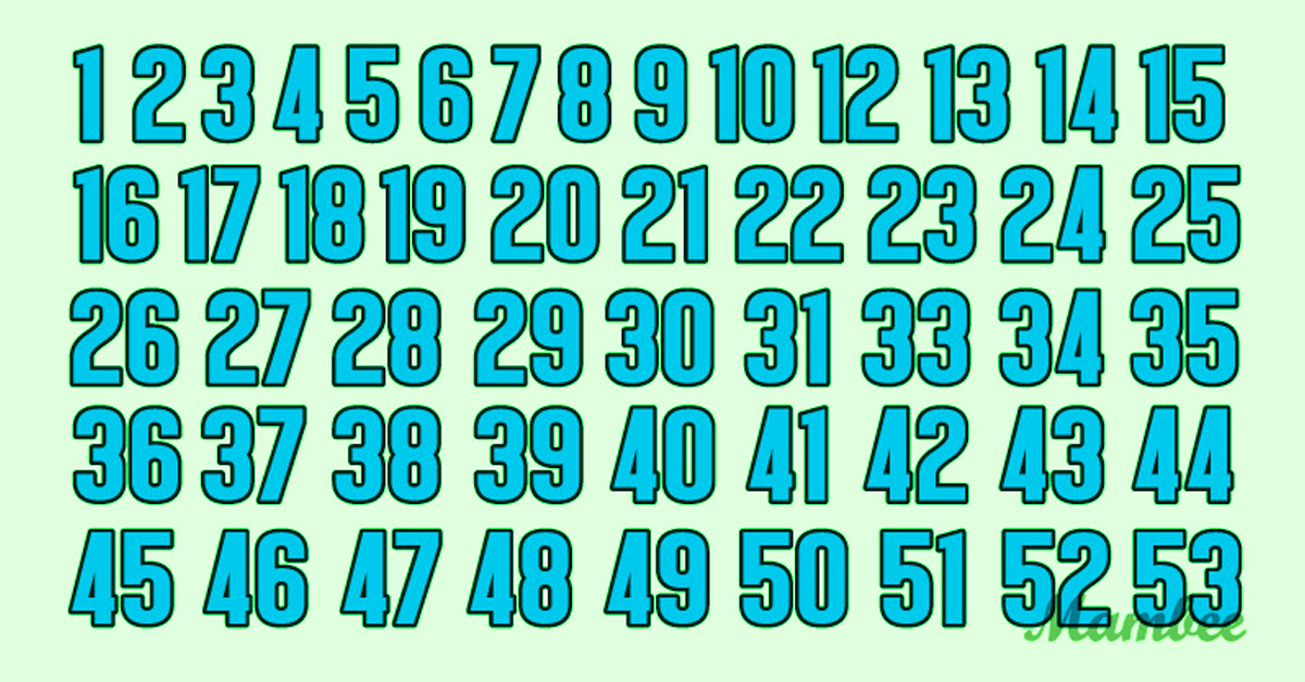 sequence of numbers error