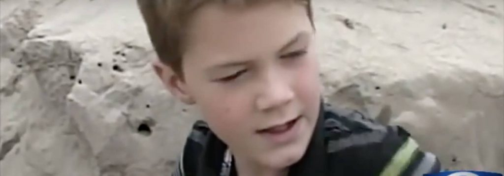 boy finds little girl buried alive