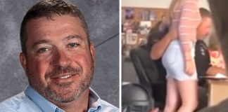 teacher suspended touching female student