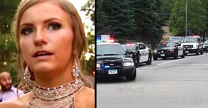 cops line up senior prom